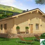 Проект деревянного дома с террасами и гаражом SD-131 Вид3