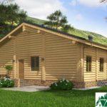 Проект деревянного дома с террасами и гаражом SD-131 Вид4
