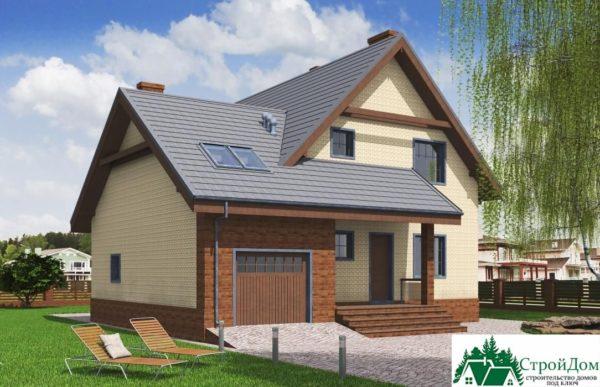 Проект дома с мансардой SD 197 вид 1 8