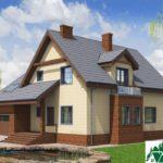 Проект дома с мансардой SD-197 вид 2 8