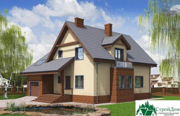 Проект дома с мансардой SD 197 вид 2 8