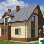 Проект дома с мансардой SD-197 вид 3 8