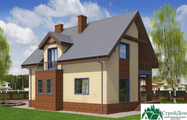 Проект дома с мансардой SD 197 вид 3 8
