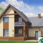 Проект дома с мансардой SD-197 вид 4 8