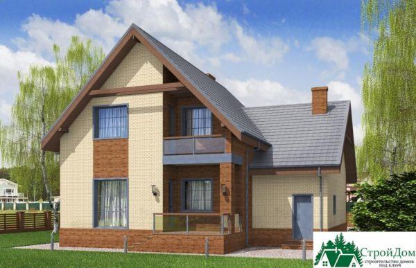 Проект дома с мансардой SD 197 вид 4 8