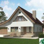 Проект дома с мансардой SD-227 вид 1 1