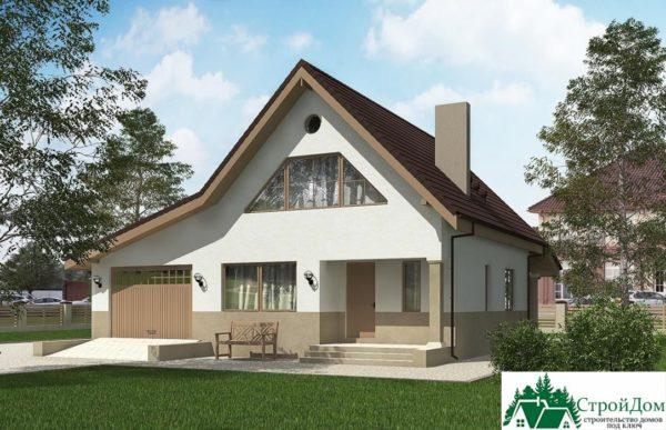 Проект дома с мансардой SD 227 вид 1 1