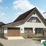 Проект дома с мансардой SD-227 вид 2 1