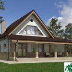 Проект дома с мансардой SD-227 вид 3 1