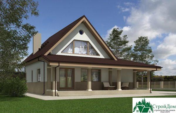Проект дома с мансардой SD 227 вид 3 1