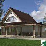 Проект дома с мансардой SD-227 вид 4 1