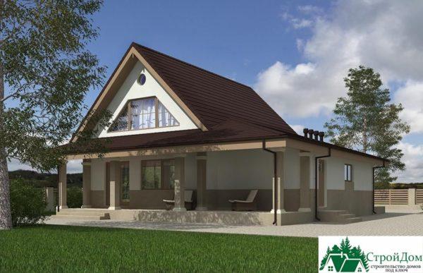 Проект дома с мансардой SD 227 вид 4 1
