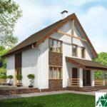 Проект дома с мансардой SD-230 вид 1 15