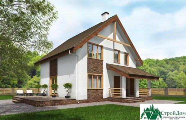 Проект дома с мансардой SD 230 вид 1 15