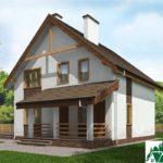 Проект дома с мансардой SD-230 вид 2 15