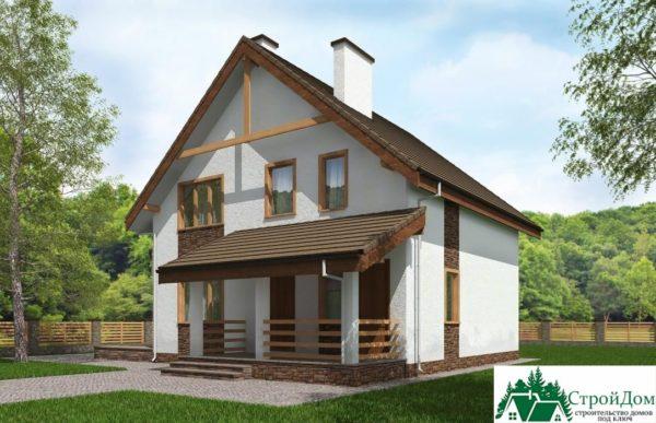 Проект дома с мансардой SD 230 вид 2 15