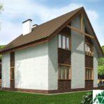 Проект дома с мансардой SD-230 вид 3 15