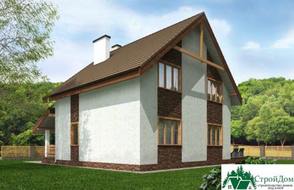 Проект дома с мансардой SD 230 вид 3 15
