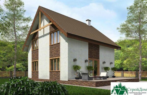 Проект дома с мансардой SD 230 вид 4 15