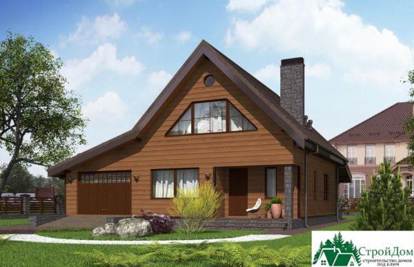 Проект дома с мансардой SD 364 вид 2 11