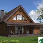 Проект дома с мансардой SD-364 вид 3 11