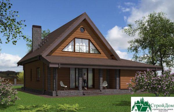 Проект дома с мансардой SD 364 вид 3 11