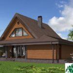 Проект дома с мансардой SD-364 вид 4 11
