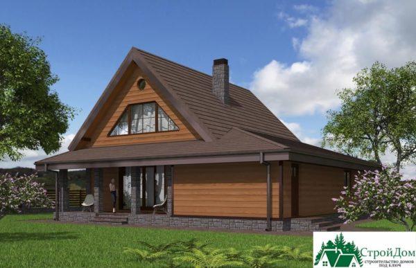Проект дома с мансардой SD 364 вид 4 11