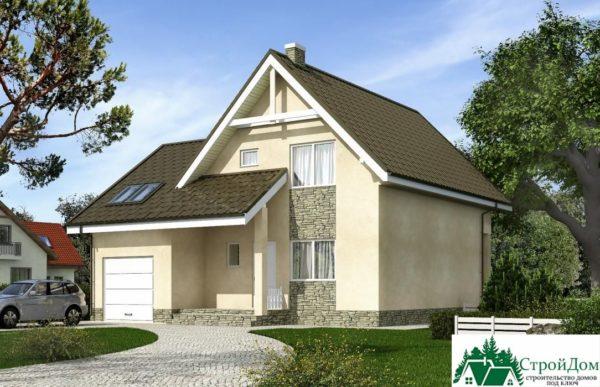 Проект дома с мансардой SD 375 вид 1 6