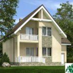 Проект дома с мансардой SD-375 вид 2 6