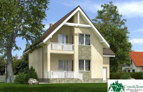 Проект дома с мансардой SD 375 вид 2 6