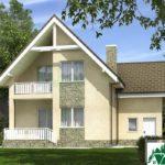 Проект дома с мансардой SD-375 вид 3 6