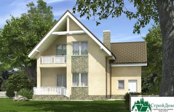 Проект дома с мансардой SD 375 вид 3 6