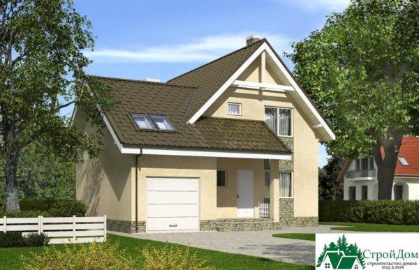 Проект дома с мансардой SD 375 вид 4 6