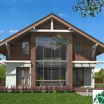 Проект дома с мансардой SD-429 вид 1 2