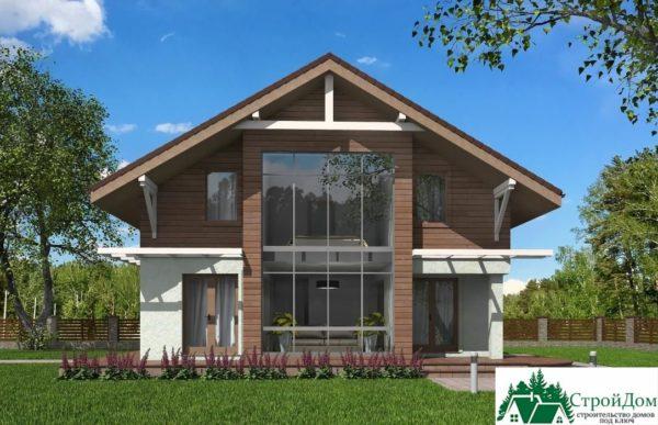 Проект дома с мансардой SD 429 вид 1 2