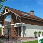 Проект дома с мансардой SD-429 вид 2 2