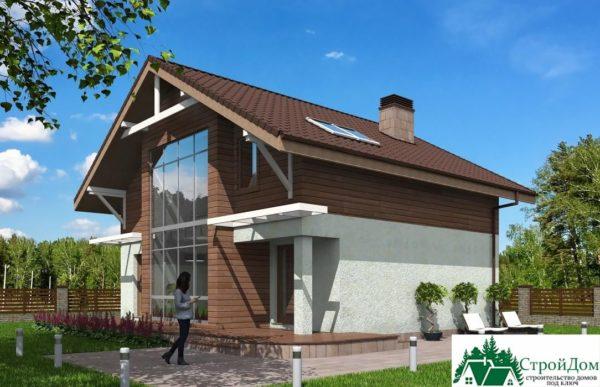 Проект дома с мансардой SD 429 вид 2 2