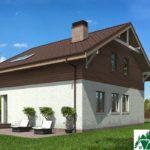 Проект дома с мансардой SD-429 вид 3 2