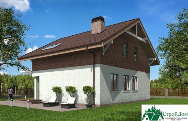 Проект дома с мансардой SD 429 вид 3 2