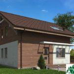 Проект дома с мансардой SD-429 вид 4 2