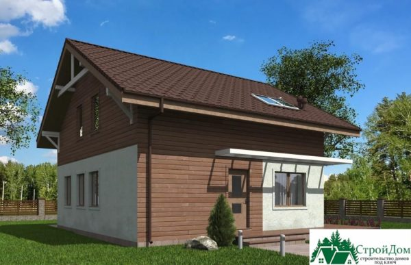 Проект дома с мансардой SD 429 вид 4 2
