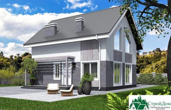 Проект дома с мансардой SD 431 вид 1 14