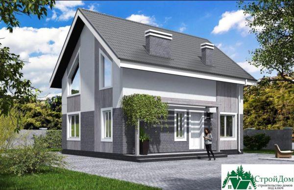 Проект дома с мансардой SD 431 вид 2 14