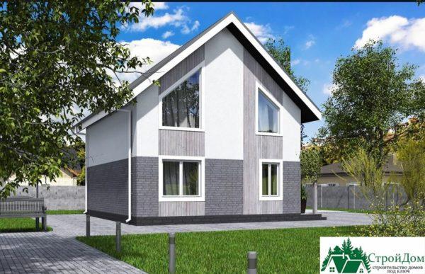 Проект дома с мансардой SD 431 вид 4 14