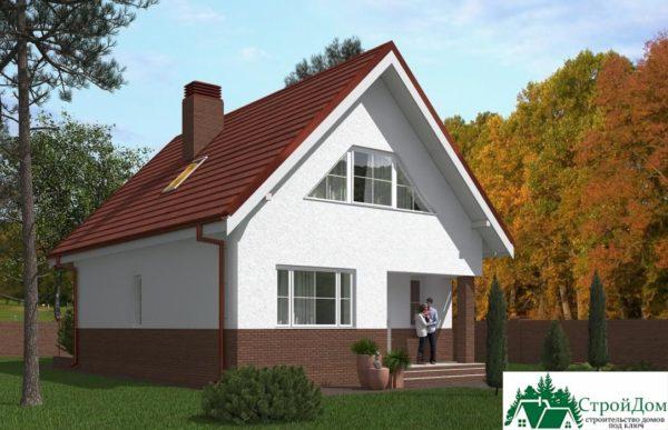 Проект дома с мансардой SD 439 вид 1 7