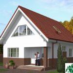 Проект дома с мансардой SD-439 вид 2 7