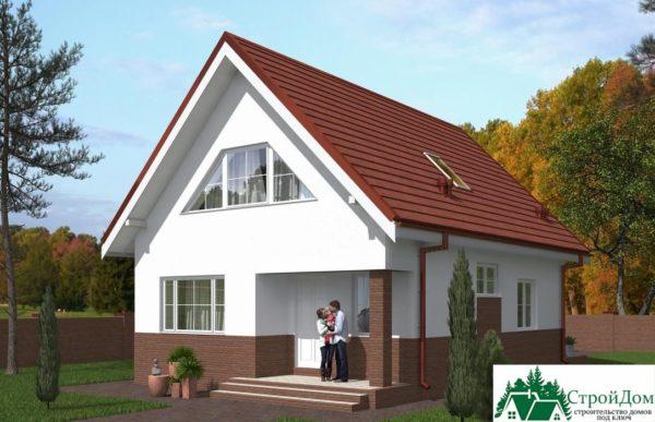 Проект дома с мансардой SD 439 вид 2 7