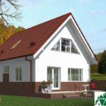 Проект дома с мансардой SD-439 вид 3 7