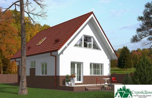Проект дома с мансардой SD 439 вид 3 7